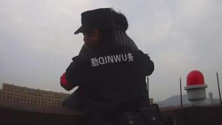 因生活琐事和媳妇发生口角 杭州一大妈爬上23楼楼顶欲跳楼