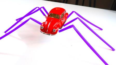 萌宝卡通玩具:把汽车的轮胎变成脚,它跑的是不是比轮胎更快嘛