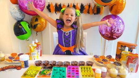 好美味!萌宝小萝莉的甜点是如何制作的呢?趣味玩具故事