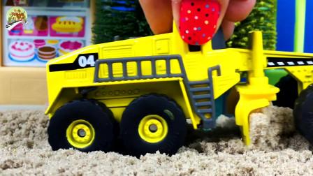 儿童挖掘机压路机和破碎机玩具