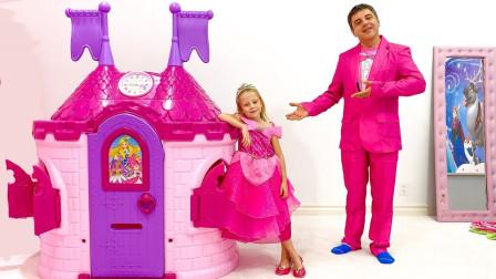 萌宝益智玩具:谁家小公主这么美丽?还把家里变成了城堡