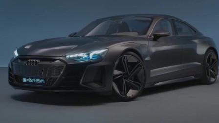 奥迪e-tron GT概念汽车,颜色太正了,华美雅致,眼里只有它