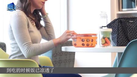 适盒便当盒  不用微波炉就可以自动加热?   真是太方便了