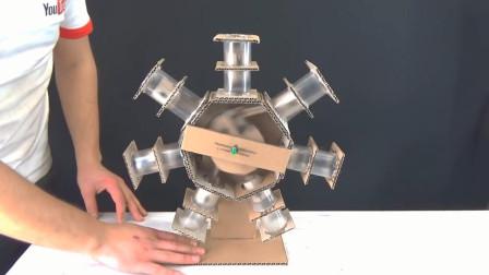 这动手能力绝了!牛人用纸板制作星型发动机