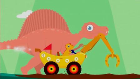 恐龙挖掘机 超级英雄寻宝记 挖掘机总动员 棘龙岛屿大探险 陌上千雨解说
