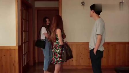 男子和女友亲吻,姐姐回来了