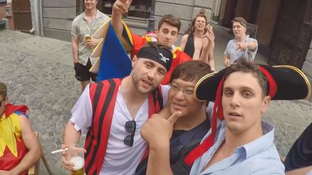 拍罗马尼亚街头派对,知道我是中国人后,现场气氛不一样了