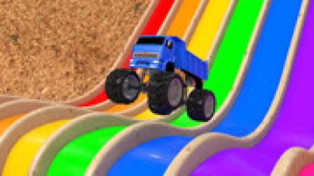 乐享知识乐园 第6季 第664集 越野改装车飞跃彩虹赛道获得糖果