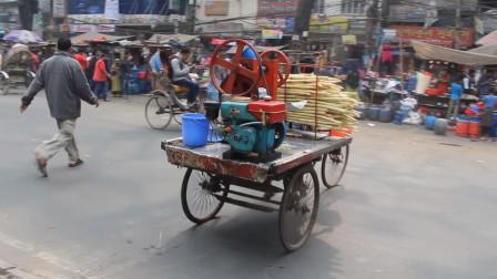 印度街头的甘蔗汁,不要看不起印度的年轻人,他们已经知道洗手了