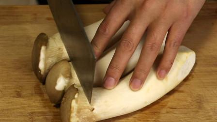 杏鲍菇我家从不炒着吃,教你最馋人的做法,外酥里嫩,3斤不够吃
