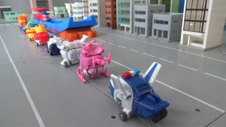 萌宝卡通玩具:超级飞侠们怎么都整整齐齐的在排队啊?怎么回事
