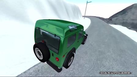 车祸模拟器:开车下山不知道减速会造成什么后果?
