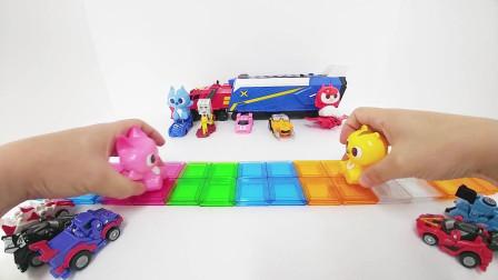 迷你特工队玩玩具:小汽车剧场真精彩