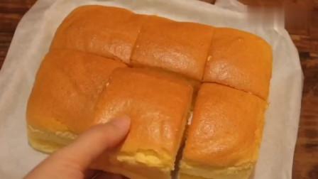 想吃古早味蛋糕自己就能做,配方和做法告诉你,没有添加剂!