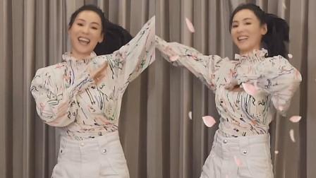 最近女神张柏芝又火了,一段樱花舞引起全网模仿!太赏心悦目了