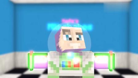 我的世界MC动画:怪物学校《奶昔店工作》,冰激凌奶昔太诱人,史蒂夫吃完胖变成球
