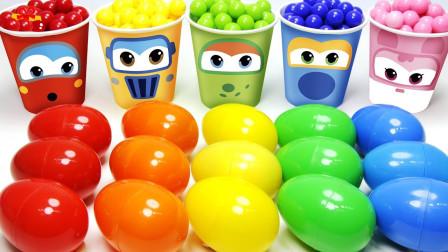 萌宝卡通玩具:玩具蛋召唤小猪佩奇超级飞侠一起学英语 寓教于乐