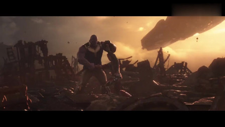 复仇者联盟3:钢铁侠独自抗衡灭霸,弃甲化剑,场面高燃!