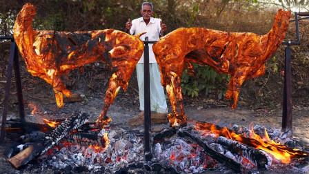 """实拍:看看印度最传统""""烤全羊"""",隔壁小孩都被馋哭了!"""