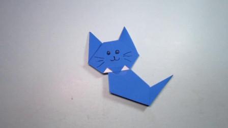 手工折纸,小猫咪的折法,简单又萌萌的好喜欢