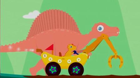 恐龙挖掘机 超级英雄寻宝记 勇闯恐龙岛 棘龙岛屿大探险 陌上千雨解说