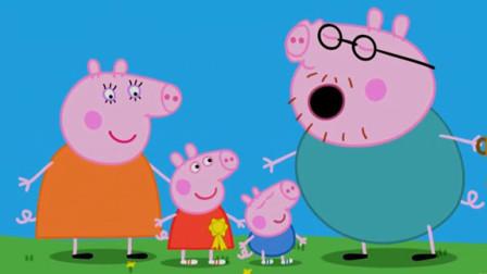 小猪佩奇peppa pig粉红猪小妹 佩佩猪的运动会 障碍赛开始了 陌上千雨解说