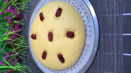 玉米面的大发糕,一看就会,学会做给家人吧