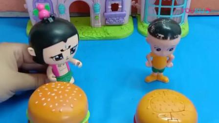 葫芦娃和大头儿子都有个神奇的汉堡,一个会分身术,另一个还会变身术呢