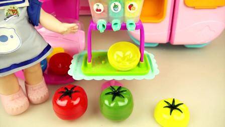 婴儿娃娃厨房烹饪玩具,冰箱玩具,橱柜玩具,儿童玩具