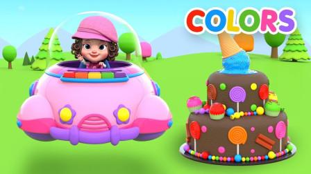 小女孩制作糖果冰淇淋蛋糕玩具