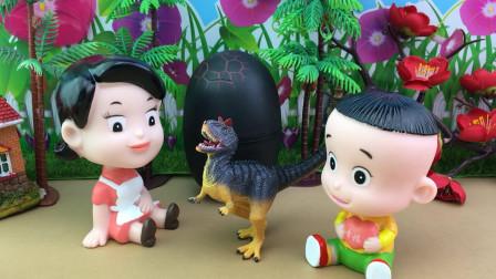 益智积木恐龙玩具拼装,大头儿子的积木扭蛋!