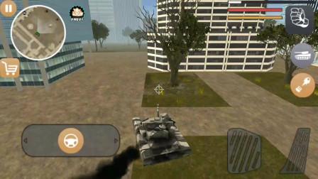 火柴人绳索英雄:火柴人开坦克撞到坦克后两架坦克都变成粉末