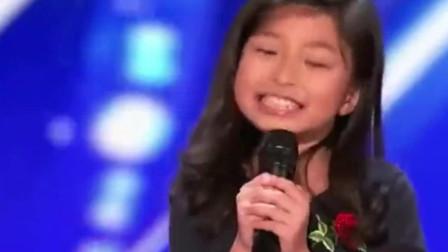 美国达人秀:香港萝莉唱了一首《我心永恒》, 这气质也是简直了