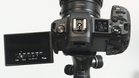 佳能EOS R微单入门操作05:液晶肩屏信息显示切换/照明按钮