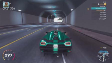 飙酷车神2:土豪熊开柯尼塞格炸隧道,这个声浪太带感!