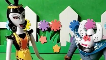 葫芦娃和蝎子精决斗啦,小朋友们快来给葫芦娃加油呀