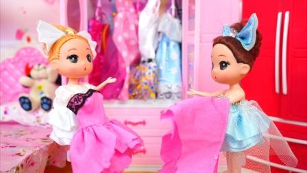双胞胎姐妹玩过家家把妈妈心爱的连衣裙给撕坏了