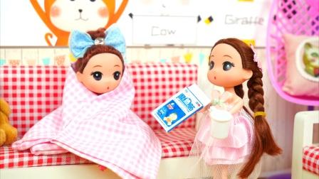 小芭比感冒好了却传染给了妹妹,姐姐照顾妹妹