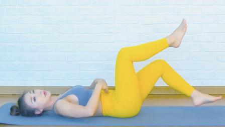 三分钟居家腹肌运动,动作很简单,腹肌很带感