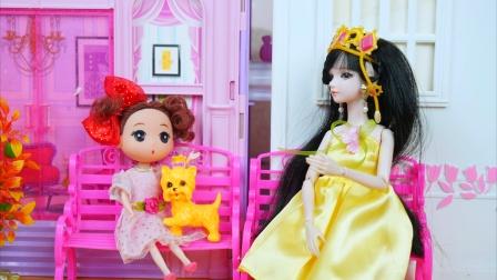 小芭比娃娃的宠物狗走丢了,叶罗丽仙子帮忙找到了