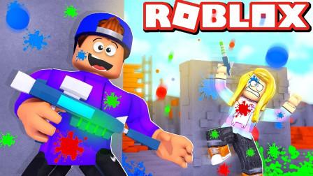小格解说 Roblox 彩弹枪战模拟器:喷射战士大作战!欢乐刺激战场?乐高小游戏