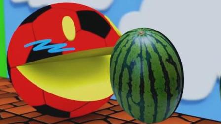 长了本事的吃豆人疯狂的吃美味的水果!吃豆人游戏