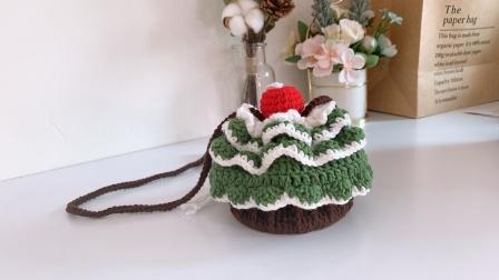 圣诞树纸杯蛋糕编织包