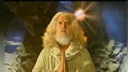 达摩祖师山洞修炼多年,最后终于修成正果,大悲咒唱起金佛降世!