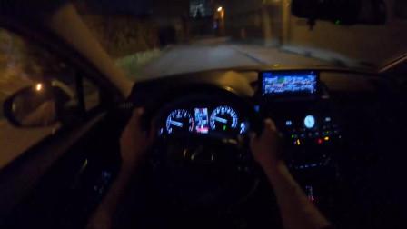 汽车实拍第一视角:夜间试驾2019款雷克萨斯,操控很好
