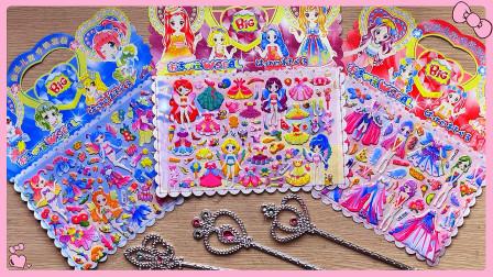 创意儿童换装贴:精灵仙子和美丽公主的圣诞装扮,美的冒泡!