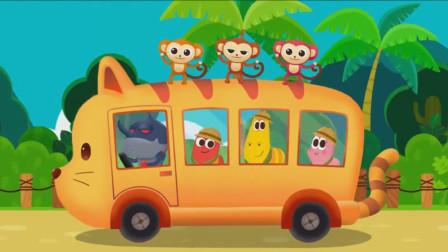 爆笑家族参观野生动物园,和动物们开心的跳舞!爆笑虫子游戏