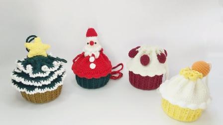 巧琳娃手作-圣诞树蛋糕包花边教程