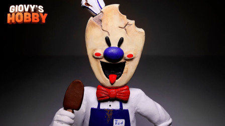 手办:用软泥打造一个尖叫冰淇淋角色,你认识吗?