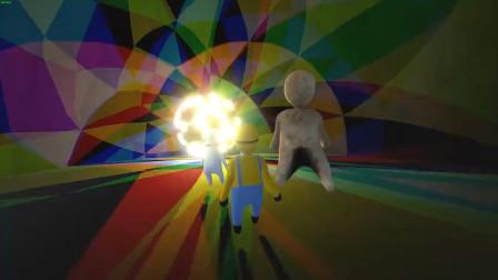 人类一败涂地:玩家自制关卡!小黄人带头外太空蹦迪,玩嗨了!